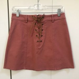Forever 21 mini skirt in Dusty Rose